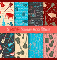 set of musical seamless patterns vector image