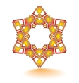 abstract circular star pattern design vector image
