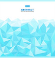 abstract geometric blue turquoise and white vector image vector image