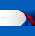 abstract modern blue and red gradient curved vector image vector image