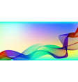 abstract waves on a colored background vector image