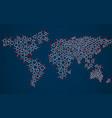 abstract world map of hexagonal molecular vector image vector image