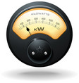 analog electrical meter realistic detailed vector image vector image