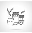 Baby food flat line icon vector image vector image