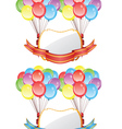 Balloons with Banners2 vector image vector image