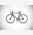 bicycle retro icon symbol vector image