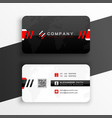 black and white business card design vector image vector image