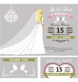 Bridal shower template setBridedressveil vector image