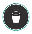 bucket computer symbol vector image