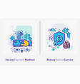 business and finance concept icons secure payment vector image vector image