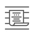 buzz marketing line icon vector image vector image