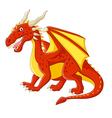 Cartoon red dragon posing vector image vector image