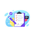 check list with check boxes and pen signed vector image