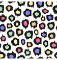 colorful leopard pattern seamless background for vector image vector image