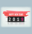 countdown timer 2019 for new year design vector image
