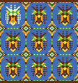 creative seamless pattern with abstract ethnic vector image vector image