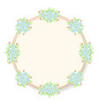 daisy flowers pastel circle frame vector image