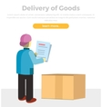 Delivery of Goods Web Banner in Flat Style Design vector image vector image