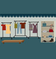 drawing of a clothing store flat vector image