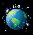 earth planet in the solar system creation vector image vector image