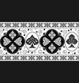 gambling vintage horizontal seamless pattern vector image vector image