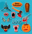 happy halloween of cartoon holiday sticker vector image