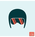 Helmet icon isolated vector image vector image
