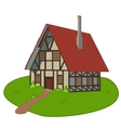 House on lawn vector image