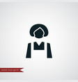housekeeper icon simple vector image
