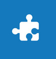 icon concept of puzzle piece on blue background vector image vector image