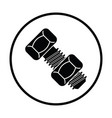icon of bolt and nut vector image vector image