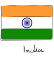 India flag doodle vector image vector image