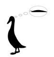Indian runner duck vector image vector image