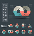 Infographic Design Element template vector image vector image