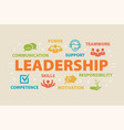 leadership concept with icons vector image