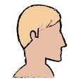 man profile shirtless avatar character vector image vector image