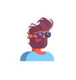 man wearing black glasses vector image vector image