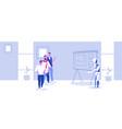 modern robot explaining financial presentation to vector image
