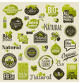 Natural organic product labels and emblems vector image vector image