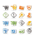 online shop icons - icon set vector image vector image