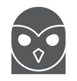 owl glyph icon animal and wild halloween sign vector image vector image