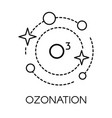 ozonation cleaning service company with o3 vector image vector image