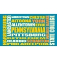 Pennsylvania state cities list vector image vector image