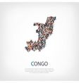 people map country Republic of the Congo vector image