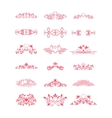 Pink Decorative Curly Elements vector image vector image