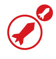 Rocket simple single color icon isolated on white vector image vector image