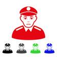 sad soldier icon vector image vector image