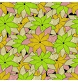 Seamless color pattern with flowers vector image