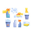 set antibacterial and hygiene icons vector image