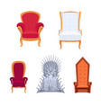 set royal armchairs or thrones cartoon style vector image